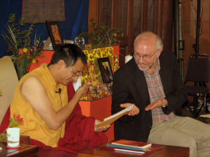 Scott Wellenbach teaching with Dzogchen Ponlop Rinpoche at Nitartha Institute.
