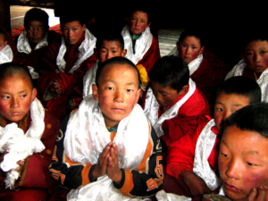 School Children at Karma Senge Rinpoche's New School.