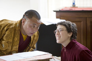 Karma Senge Rinpoche and Jessie Litven. Photo by Marvin Moore.
