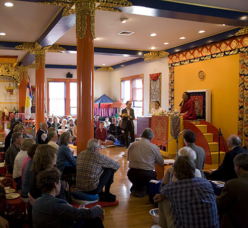 Karma Senge Rinpoche in Halifax Shambhala Center Shrine room. Photo by Marvin Moore.